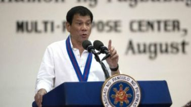 Tổng thống Philippines Rodrigo Duterte. Ảnh: AP