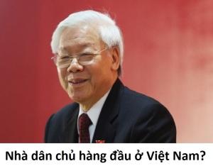 Theo tác giả, đây là nhà dân chủ số 1 ở Việt Nam. Ảnh gốc lấy từ Reuters.