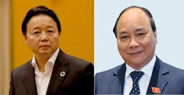 Ông Trần Hồng Hà và Nguyễn Xuân Phúc. Ảnh: internet