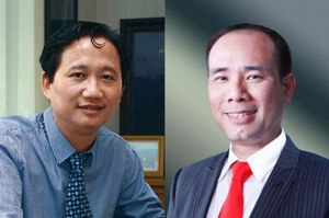 Ông Trịnh Xuân Thanh (trái) và Vũ Đức Thuận (phải).