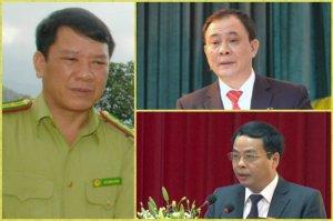 Ba lãnh đạo Yên Bái trong vụ thanh toán bằng súng: Đỗ Cường Minh, Phạm Duy Cường và Ngô Ngọc Tuấn. Ảnh: internet