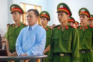 Mục sư Nguyễn Công Chính tại phiên toà. Ảnh: RFA/ internet