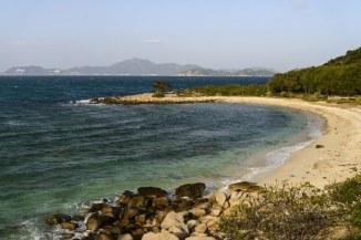 Bãi biển Phan Rang hôm 17/6/2015. Ảnh: AFP