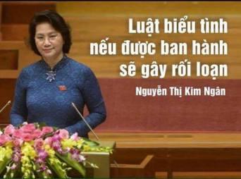 Bà Nguyễn Thị Kim Ngân và câu nói nguỵ biện. Ảnh: internet