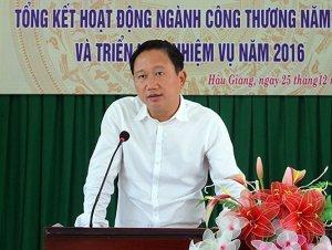 Ông Trịnh Xuân Thanh khi còn làm phó chủ tịch tỉnh Hậu Giang - Ảnh: báo Hậu Giang