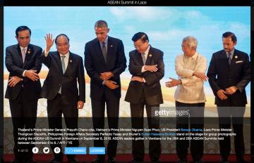 Thủ tướng Nguyễn Xuân Phúc (thứ 2 từ trái sang) tại thượng đỉnh ASEAN. Ảnh: Getty
