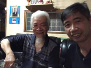 TS Hà Sỹ Phu (trái) và tác giả Huy Đức. Nguồn: FB Huy Đức
