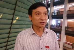 """ĐB Bùi Văn Xuyền đưa quan điểm: """"Không có chuyện phải đi tìm ông Trịnh Xuân Thanh"""". Ảnh Dương Thu."""