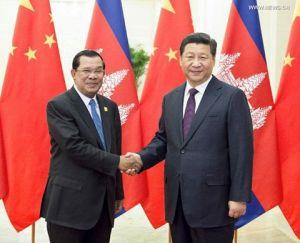 TT Campuchia Hun Sen và CTN Tập Cận Bình. Nguồn: news.cn