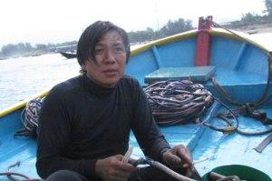 Ngư dân Nguyễn Xuân Thành. Ảnh: internet