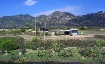Vị trí xây dựng dự án khu liên hợp nhà máy thép Cà Ná tại Ninh Thuận. Photo Courtesey