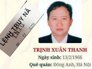Công an phát lệnh truy nã quốc tế với ông Trịnh Xuân Thanh. Nguồn: internet