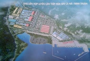 Khu liên hợp luyện cán thép Hoa Sen Cà Ná - Ninh Thuận. Ảnh: báo TP