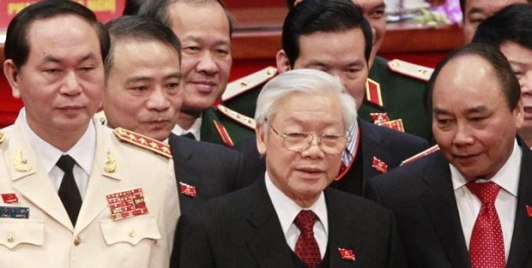 Ba lãnh đạo cấp cao của Đảng Cộng sản Việt Nam có mặt trong Đảng uỷ Công an. Ảnh: AFP
