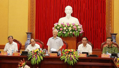 Tổng Bí thư Nguyễn Phú Trọng phát biểu tại buổi lễ. Courtesy TTXVN