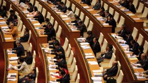 Các đại biểu tham dự phiên khai mạc kỳ họp thứ 11 Quốc hội khóa XIII ở Việt Nam. Ảnh tư liệu - EPA
