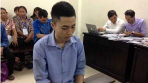 Bị cáo Vũ Văn Bình bị cho là đã gây ra cái chết của thiếu niên Đỗ Đăng Dư trong trại giam. Ảnh: FB Lê Văn Luân