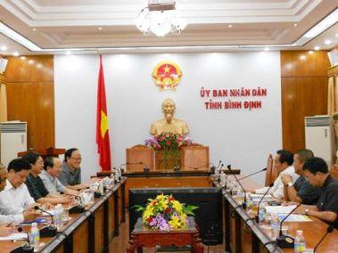 Lãnh đạo tỉnh Bình Định họp. Nguồn: internet