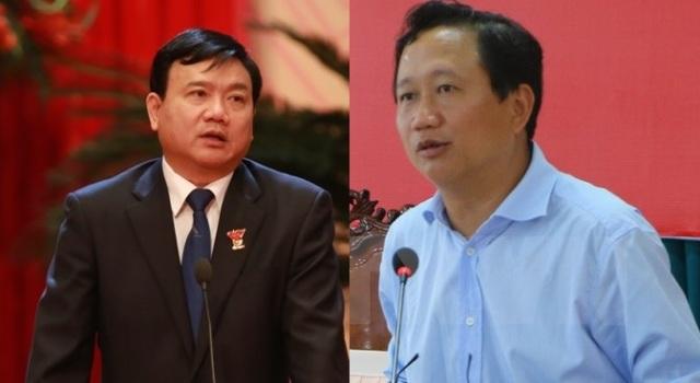 Đinh La Thăng và Trịnh Xuân Thanh. Ảnh cắt từ internet