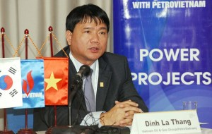 Ông Ðinh La Thăng khi còn là chủ tịch Petro Vietnam. (Hình: Getty Images)
