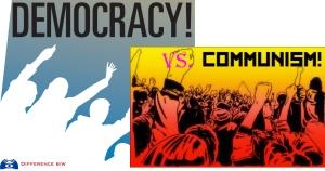 Dân chủ vs Cộng sản. Nguồn: internet