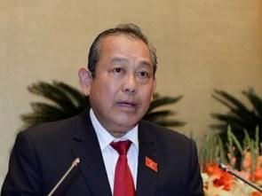 Phó Thủ tướng Thường trực Trương Hòa Bình. Courtesy NLD.