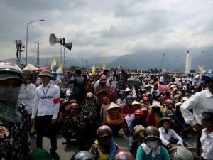 Người dân biểu tình phản đối Formosa hôm Chủ Nhật vừa qua. Nguồn: internet