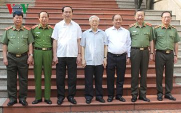 Ban Thường vụ Đảng ủy Công an Trung ương gồm 7 đồng chí. Ảnh VOV