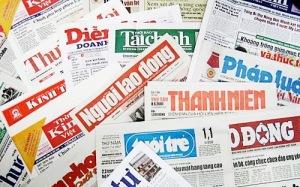 Báo chí trong nước đều do Ban Tuyên giáo quản lý. Ảnh: internet