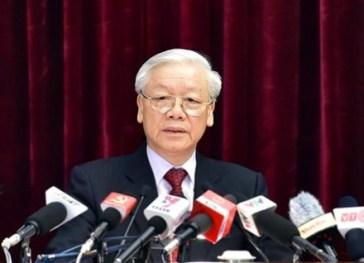 Ông Nguyễn Phú Trọng tại lễ khai mại HNTU 4. Nguồn: internet