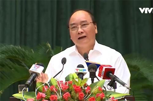 Thủ tướng Nguyễn Xuân Phúc: Cấp phép 70 năm cho Formosa là đúng luật. Nguồn: VTV