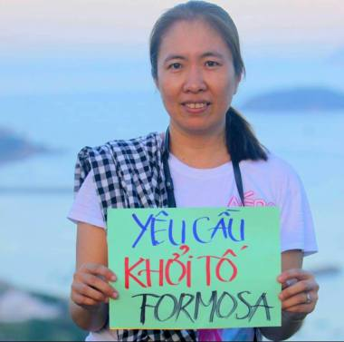 Cô Nguyễn Ngọc Như Quỳnh, tức blogger Mẹ Nấm, vừa bị bắt chiều 10-10-2016. Nguồn: FB