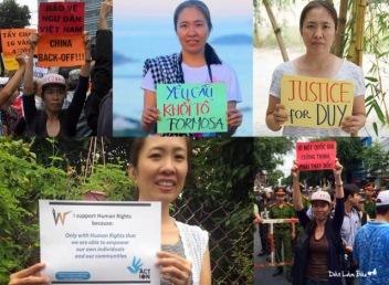 Bị bắt khi đang đấu tranh cho tù nhân lương tâm. Ảnh: Nguyễn Tường Thụy/ internet/ DLB