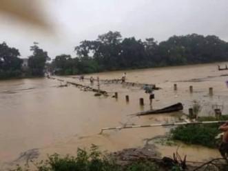 Cầu Tràn tại thị trấn Hương Sơn (Ảnh: Facebook)