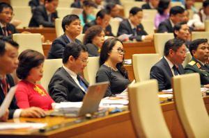 Hội đoàn Việt Nam đi về đâu phụ thuộc vào nút bấm của các đại biểu Quốc hội này. Ảnh: VietNamNet