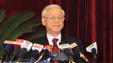 TBT Nguyễn Phú Trọng chống diễn biến tại Hội nghị Trung ương 4. Nguồn: internet