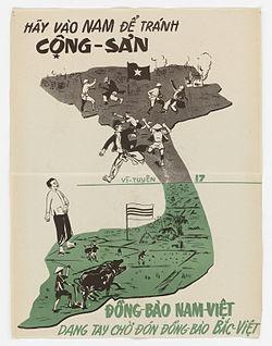 Bi kịch của người dân VN, luôn trốn chạy CS. Ảnh poster ngày 5-8-1954. Nguồn: internet