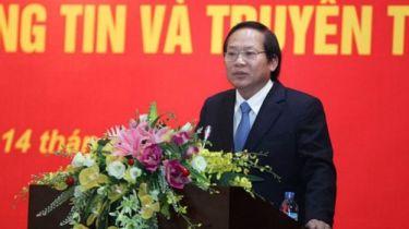 Bộ trưởng TT&TT Trương Minh Tuấn cũng là Phó trưởng ban Tuyên giáo. Ảnh: Truong Minh Tuan