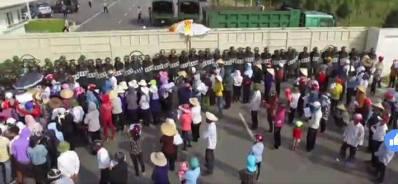 Ngư dân miền Trung biểu tình tại Formosa. Nguồn: Facebook