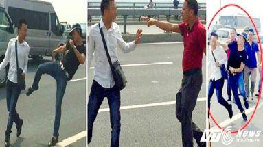 Phóng viên Quang Thế bị phạt 14,4 triệu đồng vì vi phạm hành chính 6 lỗi trong vụ việc xảy ra trên cầu Nhật Tân. Ảnh: VTC