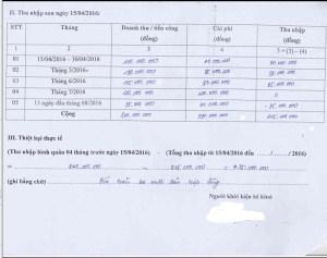Bản liệt kê thiệt hại từ 15 Tháng Tư đến 15 Tháng Tám, 2016 của ngư dân Nghệ An đi kiện Formosa. (Hình: GNsP)