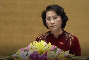 Chủ tịch QH Nguyễn Thị Kim Ngân tại kỳ họp thứ 2, Quốc hội khóa 14. Ảnh: Đỗ Thoa/ báo Bắc Kạn.