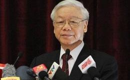 TBT Nguyễn Phú Trọng phát biểu tại HNTW 4. Nguồn: internet