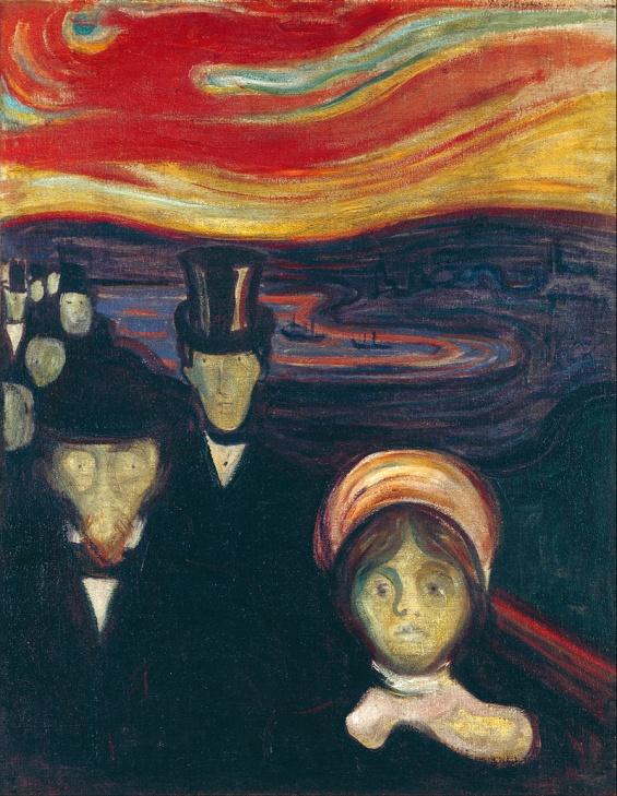 Sợ hãi. Tranh của Edvard Munch, 1894