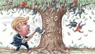 Biếm họa về Donald Trump