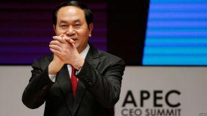 Chủ tịch Việt Nam Trần Đại Quang trong một cuộc họp của APEC ở Lima, Peru, hôm 19/11. Ảnh: Reuters.