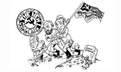 Ảnh biếm họa trên báo New York Time về Cộng sản