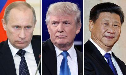 Putin, Trump và Tập Cận Bình. Ảnh: Getty