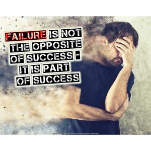 không phải là sự trái ngược của thành công. Nó là một phần của sự thành công. Nguồn: internet