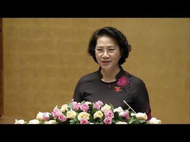 Chủ tịch Quốc hội Nguyễn Thị Kim Ngân phát biểu tại phiên bế mạc.